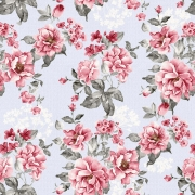 Papel de Parede Floral Cor de Rosa Fundo Lilas
