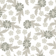Papel de Parede Floral Crisantemo Cinza