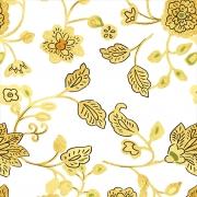 Papel de Parede Floral Dourado
