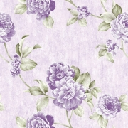 Papel de Parede Floral E Fundo Lilás
