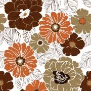 Papel de Parede Floral Efeito Madeira