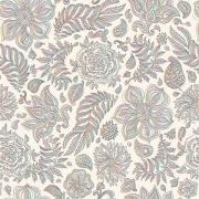 Papel de Parede Floral Estilo Arabesco Colorido