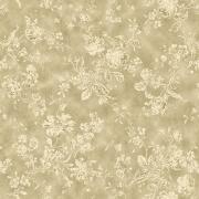 Papel de Parede Floral Flor Dourada Vintage