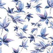 Papel de Parede Floral Folhagem Azul