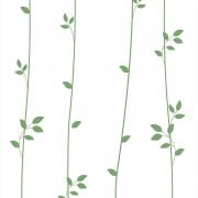 Papel de Parede Floral Galhos Verdes