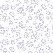 Papel de Parede Floral Lilás Desenho Riscas