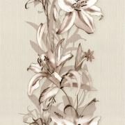 Papel de Parede Floral Lírios Bege