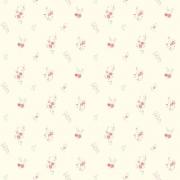 Papel de Parede Floral Mini Rosas Fundo Creme
