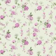 Papel de Parede Floral Mundo de Rosas Fundo Verde