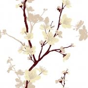 Papel de Parede Floral Orquídea Oriental Tons Pastel