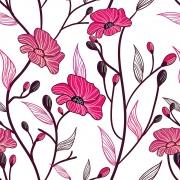 Papel de Parede Floral Orquídeas Pink