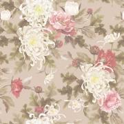Papel de Parede Floral Pintura Branco Fundo Nude
