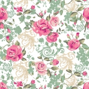 Papel de Parede Floral Primavera Rosas e Folhagens