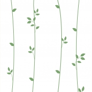 Papel de Parede Floral Ramos Verdes