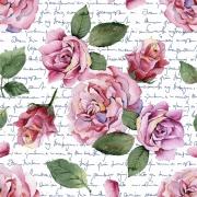 Papel de Parede Floral Rosa Poesia
