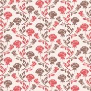 Papel de Parede Floral Rosas Vermelhas e Marrom