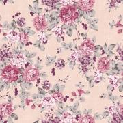 Papel de Parede Floral Sofisticado Lilas e Rosa