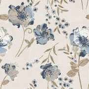 Papel de Parede Floral Tons Azul Ilusão Textura