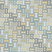 Papel de Parede Geométrico Abstrato Ciano, Cinza e Tons Neutros