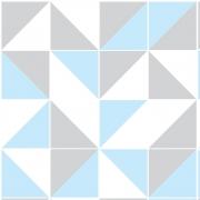 Papel de Parede Geométrico Azul Cinza Tons Claros