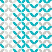 Papel de Parede Geométrico Azul e Cinza