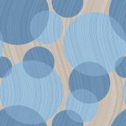 Papel de Parede Geométrico Círculos Azul Estilo Textura