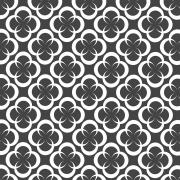 Papel de Parede Geométrico Círculos Cinza Escuro