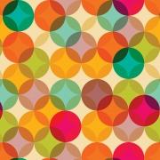 Papel de Parede Geométrico Círculos Colorido