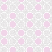 Papel de Parede Geométrico Círculos Rosa