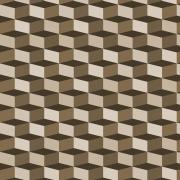 Papel de Parede Geométrico Cubo Marrom
