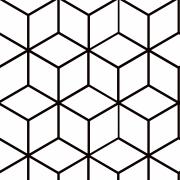 Papel de Parede Geométrico Cubos Branco