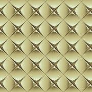 Papel de Parede Geométrico Efeito 3D Dourado