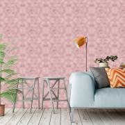 Papel de Parede Geométrico Elegance Rose Gold