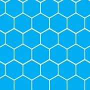 Papel de Parede Geométrico Hexágono Azul