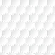 Papel de Parede Geométrico Hexágono Branco Gelo