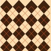 Papel de Parede Geométrico Losango Café