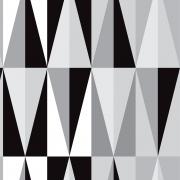 Papel de Parede Geométrico Preto e Cinza