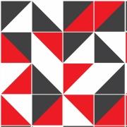Papel de Parede Geométrico Preto Vermelho