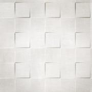Papel de Parede Geométrico Quadrado Efeito 3D Cinza e Branco