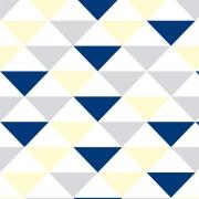 Papel de Parede Geométrico Triângulo Amarelo e Azul