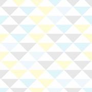 Papel de Parede Geométrico Triângulo Pequeno Cores Claras
