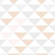 Papel de Parede Geométrico Triângulos Nude e Cinza