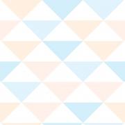 Papel de Parede Geométrico Triângulos Rosa Azul Cores Claras