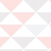 Papel de Parede Geométrico Triângulos Rosa e Lilás