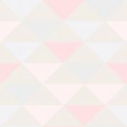 Papel de Parede Geométrico Triângulos Rosa Fundo Nude