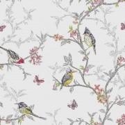 Papel de Parede Pássaros e Borboletas Vintage