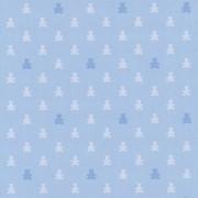Papel de Parede Ursinhos em Tons de Azul Fundo Azul