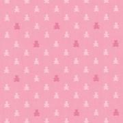 Papel de Parede Ursinhos Tons de Rosa Fundo Rosa