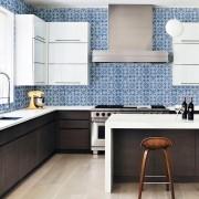 Papel Parede Azulejos Português Tons de Azul