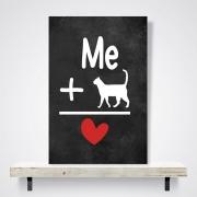 Placa Decorativa Eu e meu gato